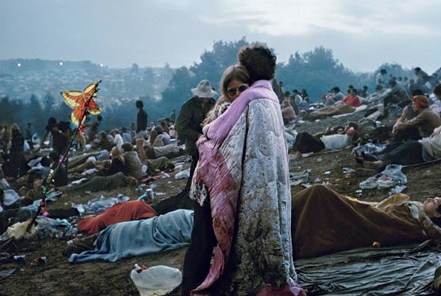 Woodstock by Burk Uzzle