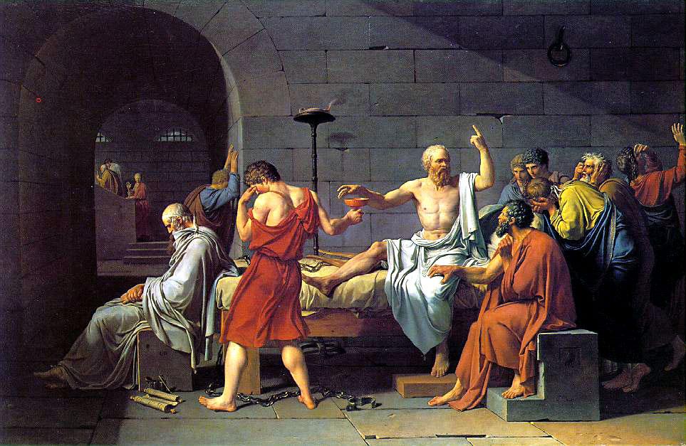 Jacques-Louis David — The Death of Socrates