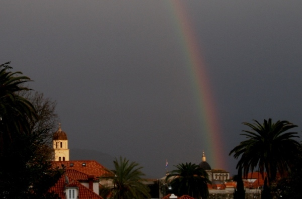 A rainbow in Dubrovnik