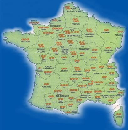 Kissing Customs Regional Distribution in France