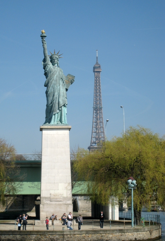 The Statue of Liberty in the Ile aux Cygnes, Paris