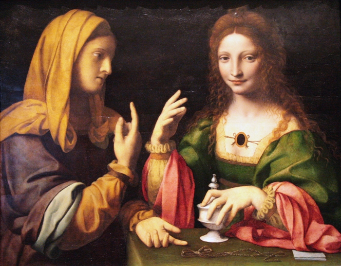 Bernardino Luini — The Conversion of the Magdalene