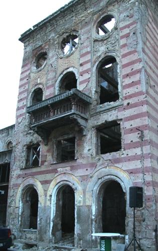 A ruin in Mostar