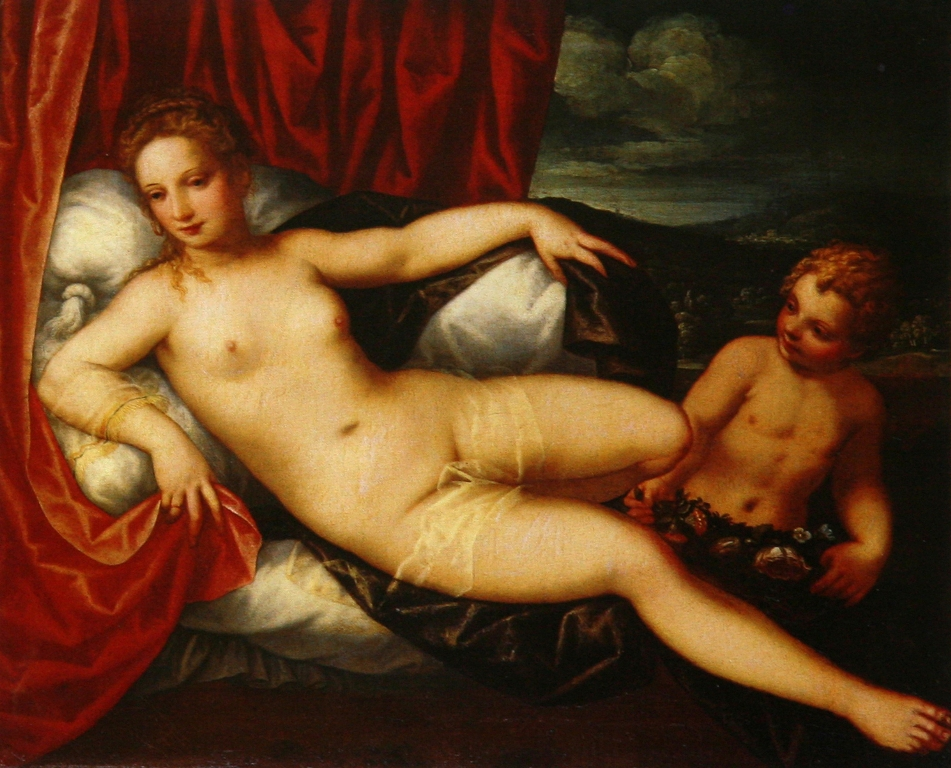 Venus and Cupid by Johann Rottenhammer