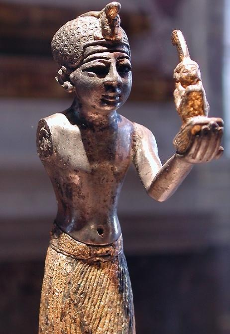 Pharaoh Seti I offers Maat