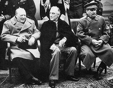 Churchill, Roosevelt and Stalin in Yalta